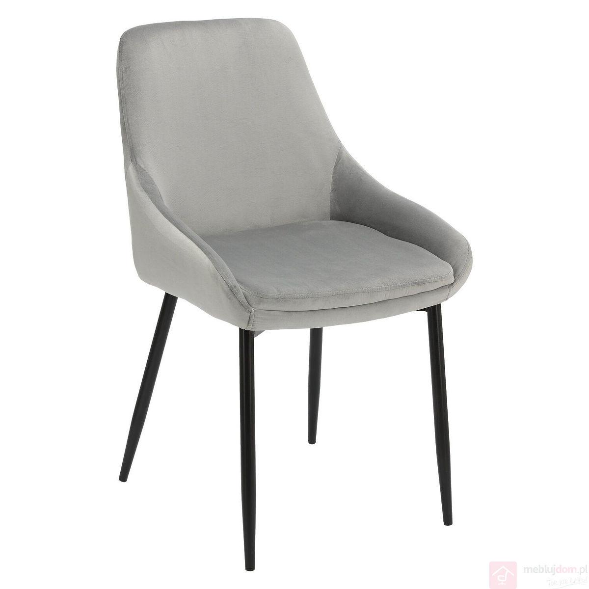Krzesło FLOYD VELVET szary przód
