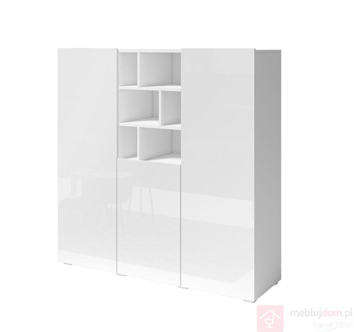 Wysoka komoda AKSEL 46 biała