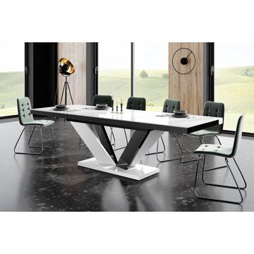 Stół VIVA Hubertus Biały + Czarny / nogi mieszane