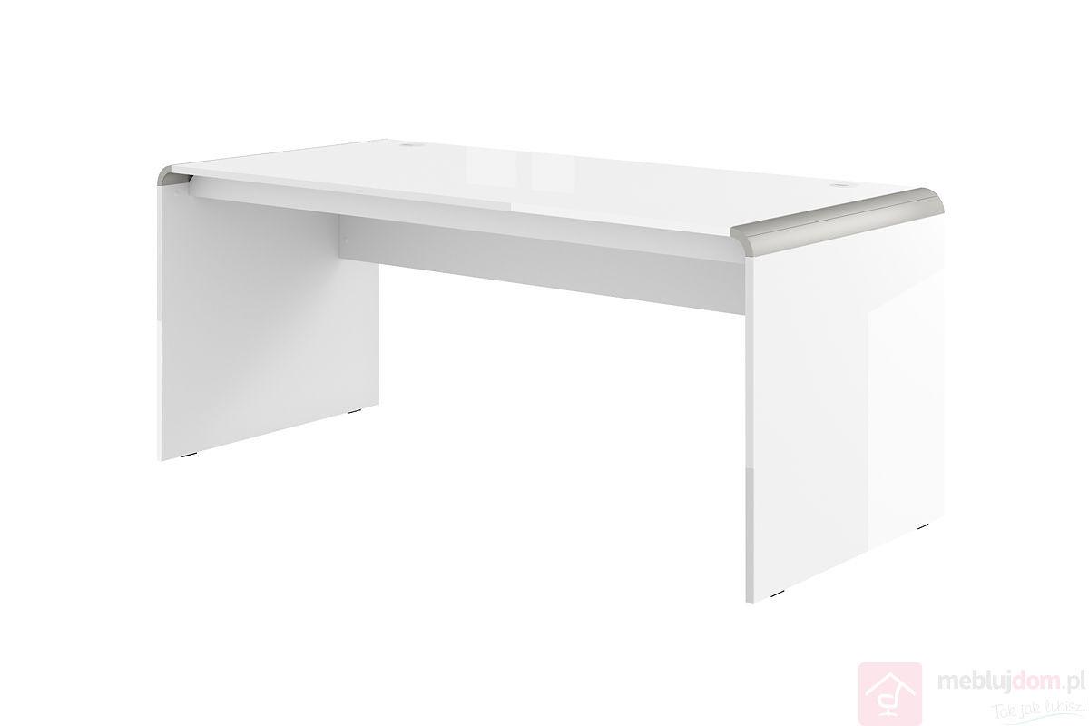 Biurko DOUBLE 180 MILANO/MURANO Biały + Srebrny