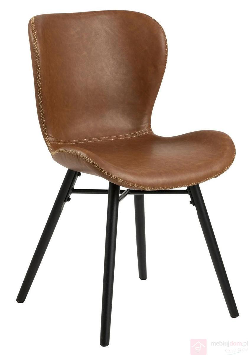 Krzesło BATILDA RETRO czarne siedzisko