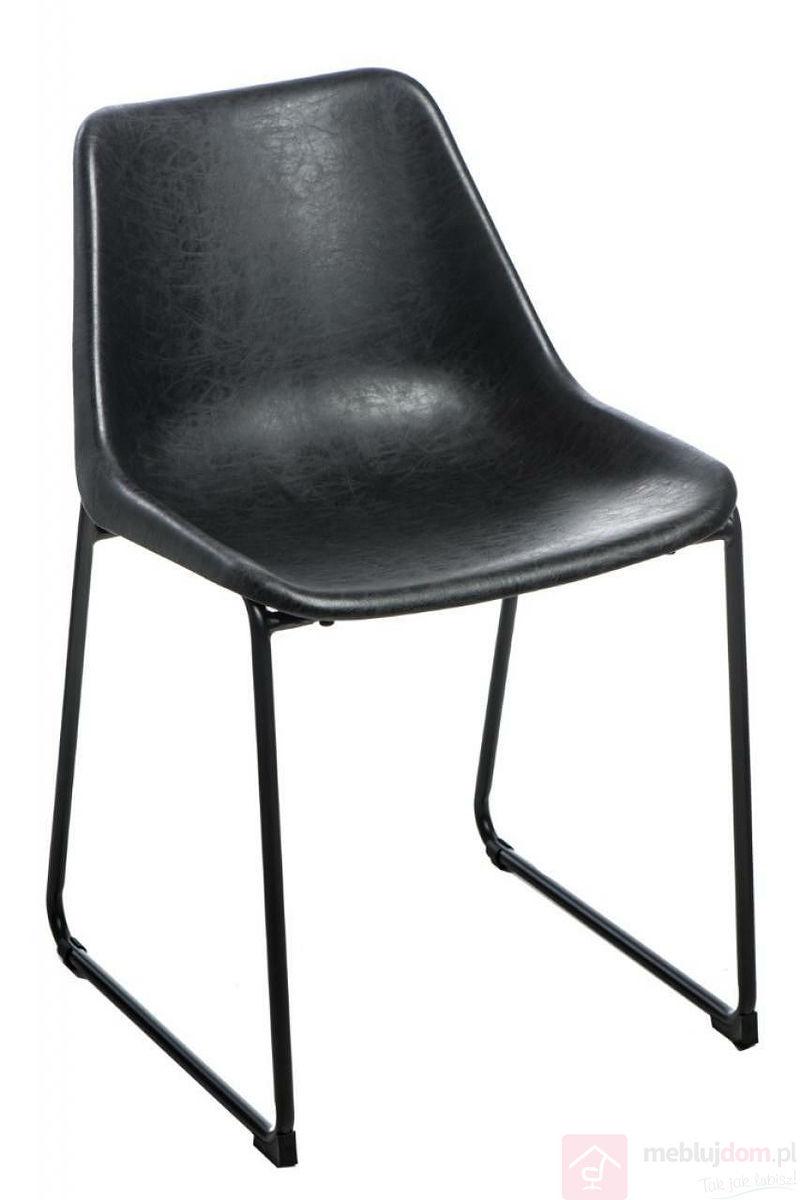 Krzesło BRITY VINTAGE BLACK