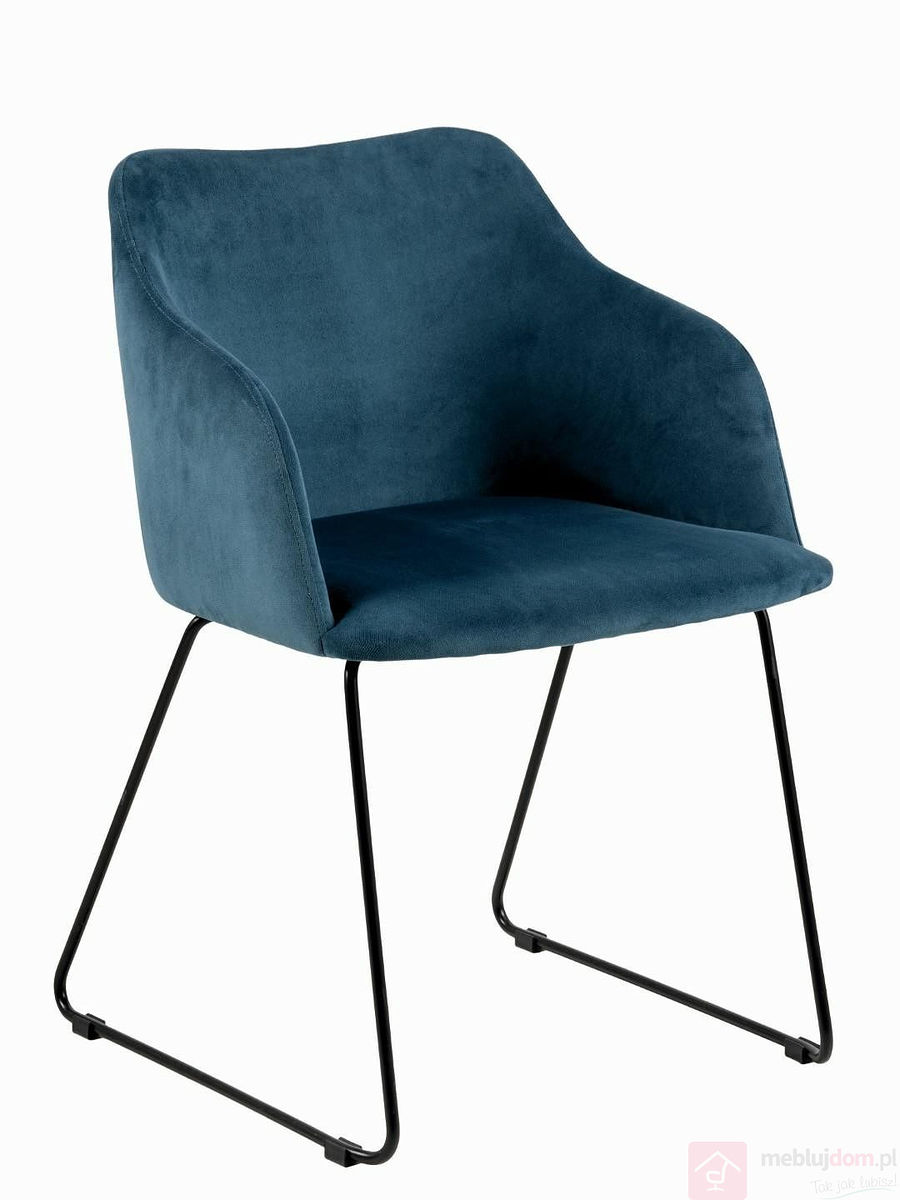 Krzesło CASABLANCA czarne niebieskie