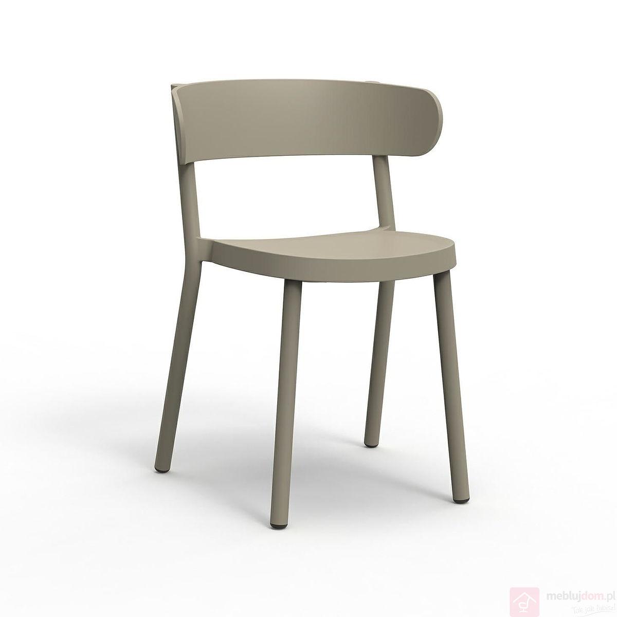 Krzesło CASINO białe brązowe jasne