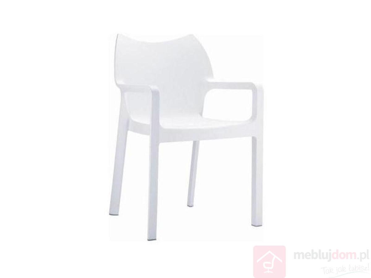 Krzesło DIONISIO białe bok