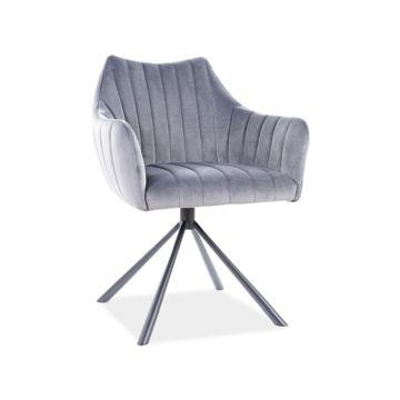 Krzesło AGAVA VELVET Signal Szare