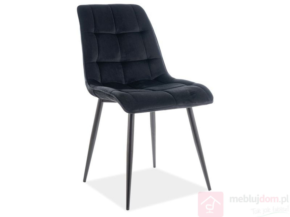 Krzesło welurowe CHIC MATT VELVET Signal Czarne