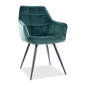 Krzesło LILIA VELVET zielone