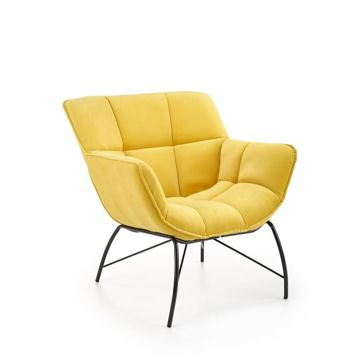 Fotel BELTON Velvet Halmar Żółty