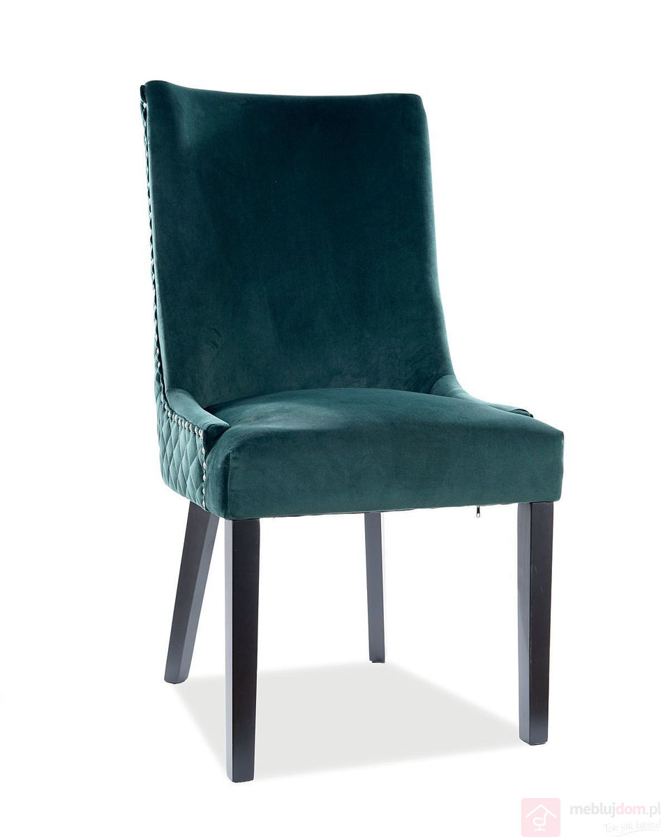 Krzesło LEON VELVET Signal zielone