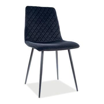 Krzesło IRYS VELVET Signal czarne