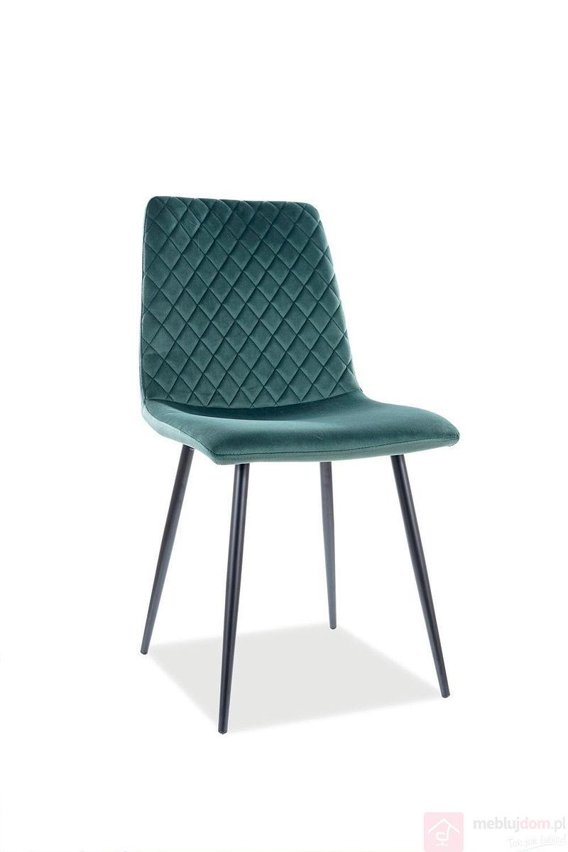 Krzesło IRYS VELVET Signal zielone
