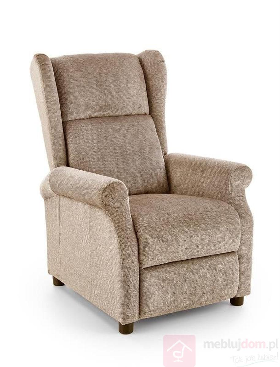Fotel relaksacyjny AGUSTIN - M Halmar Beżowy