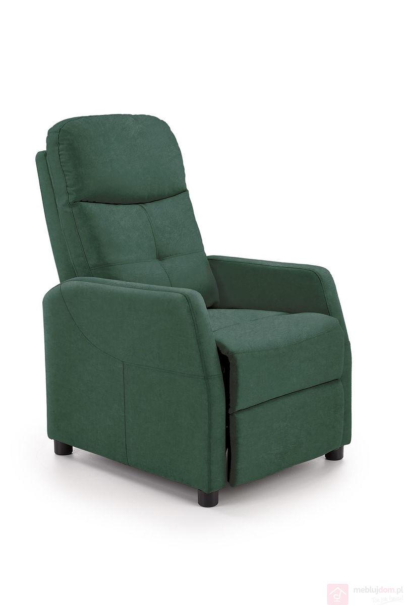 Fotel relaksacyjny FELIPE 2 Velvet Halmar Ciemnozielony