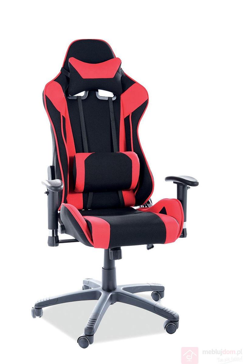 Fotel dla gracza VIPER Signal czarno-czerwony
