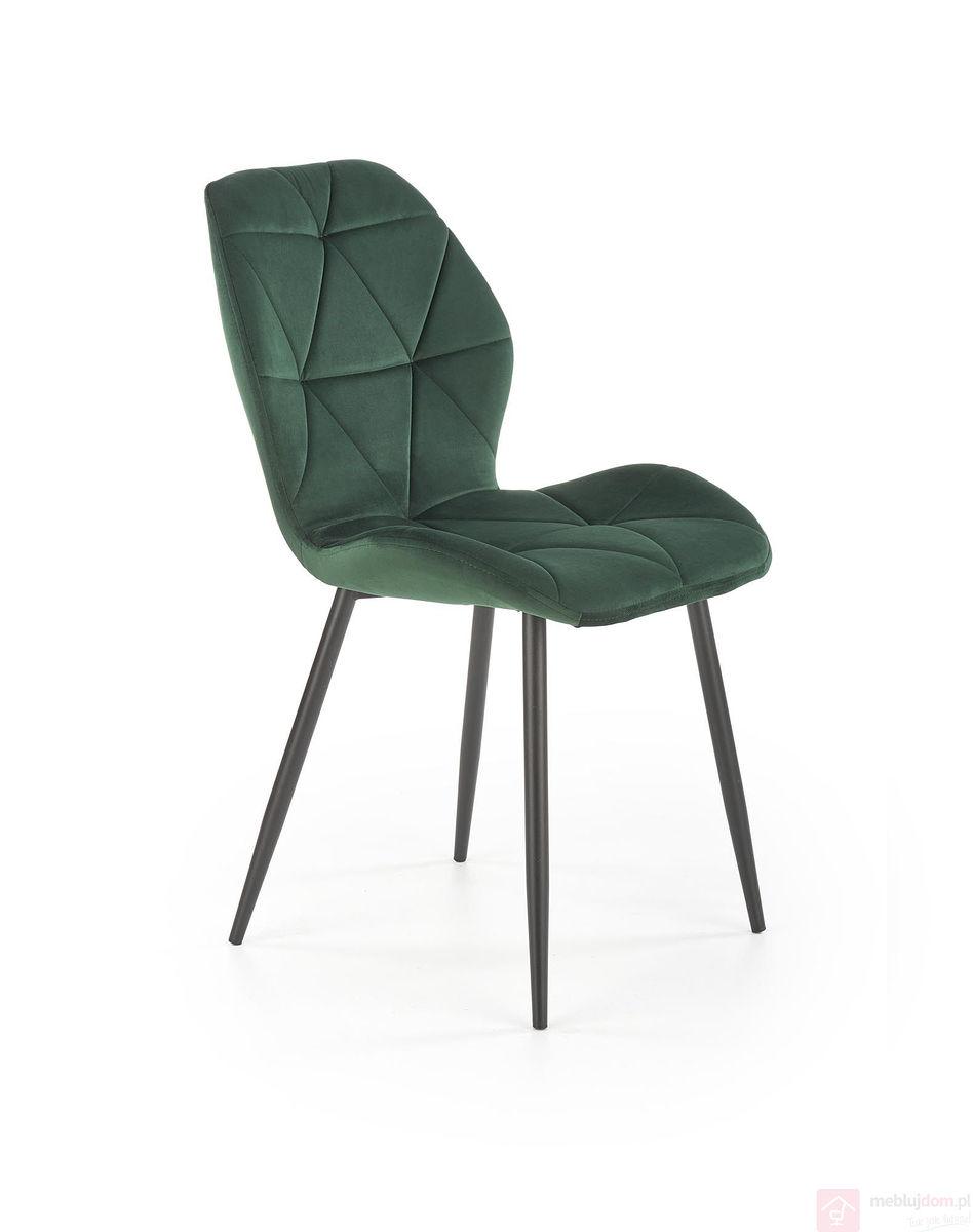 Krzesło K-453 Halmar Ciemnozielony velvet
