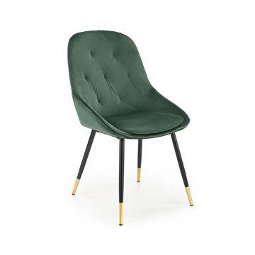 Krzesło K-437 Halmar Ciemnozielony Velvet