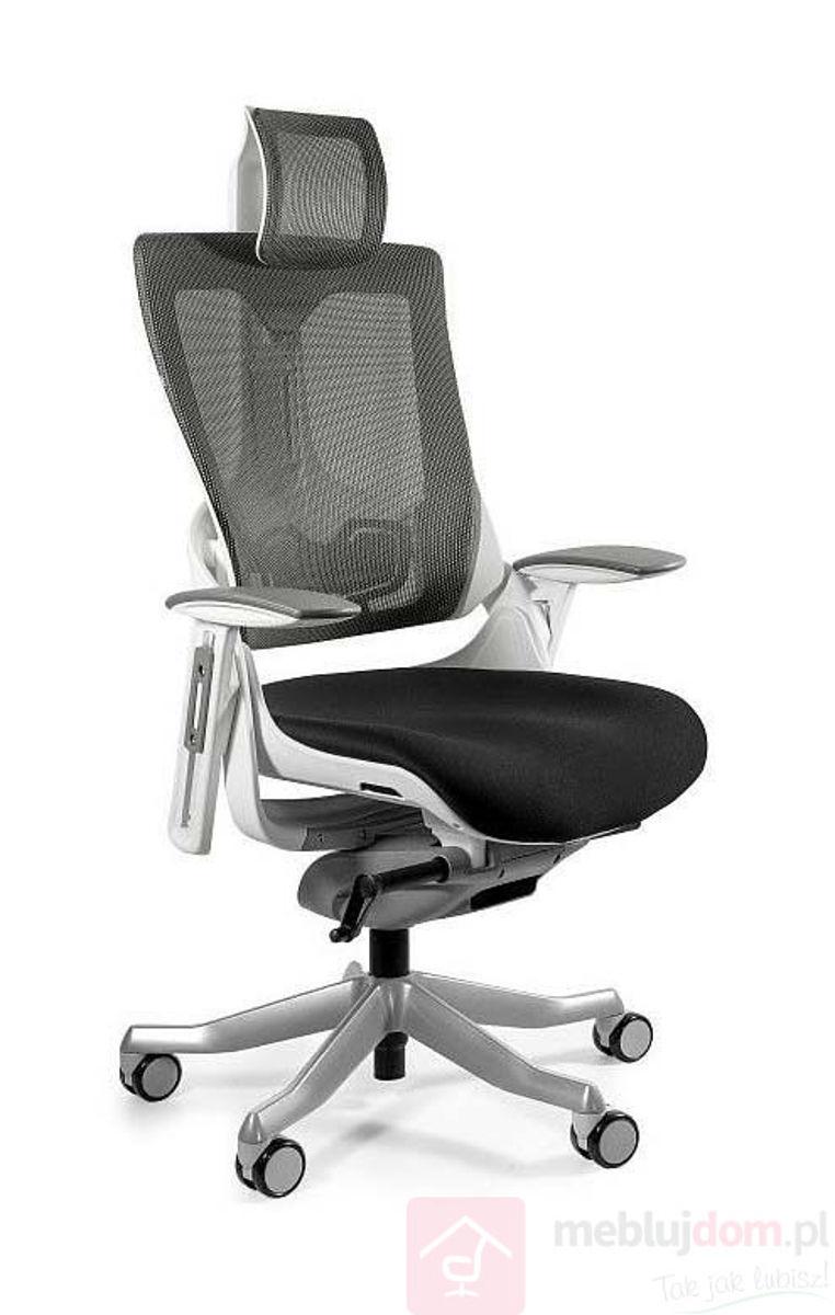 Fotel ergonomiczny WAU 2 Tkanina BL418 BLACK Siatka NW41