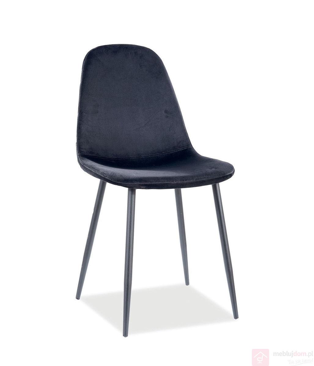 Krzesło FOX Velvet Signal czarne