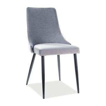 Krzesło tapicerowane PIANO B VELVET Signal szare