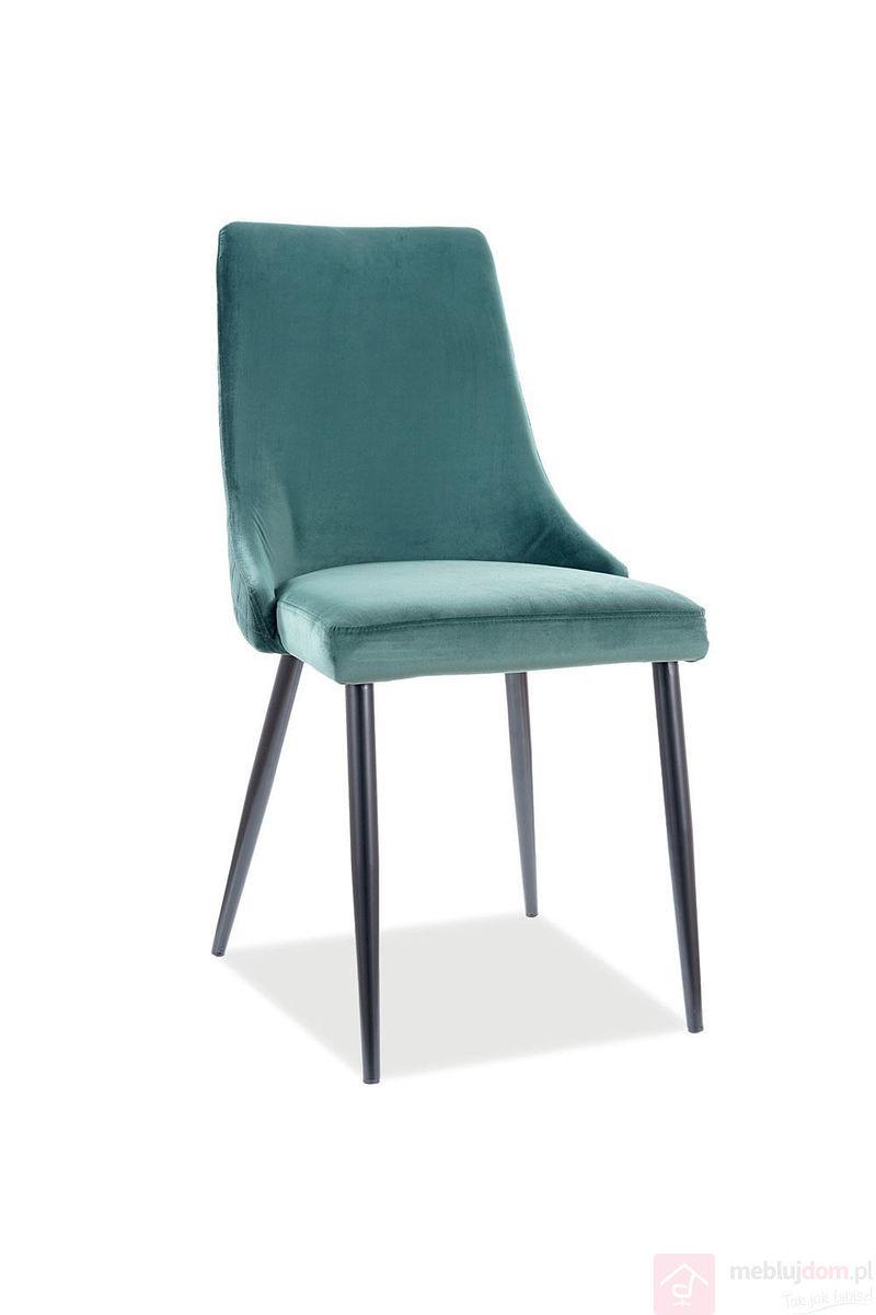 Krzesło tapicerowane PIANO B VELVET Signal zielone