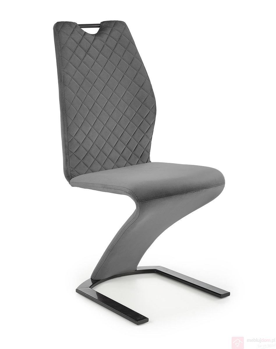Krzesło K-442 Halmar Szary Velvet