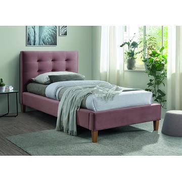 Łóżko TEXAS VELVET Signal pojedyncze różowe
