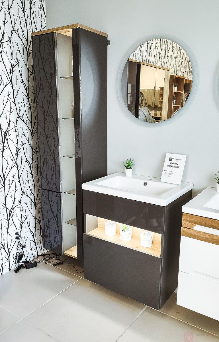 Zestaw mebli łazienkowych BAHAMA GREY z umywalką [Outlet]