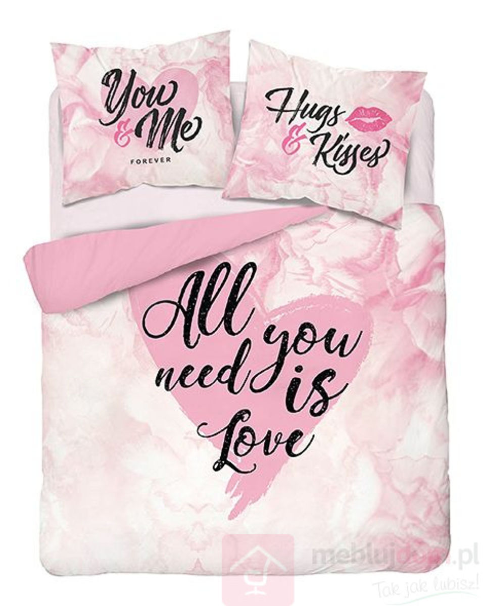 Pościel Holland Collection 3406A 160x200 All You Need is Love