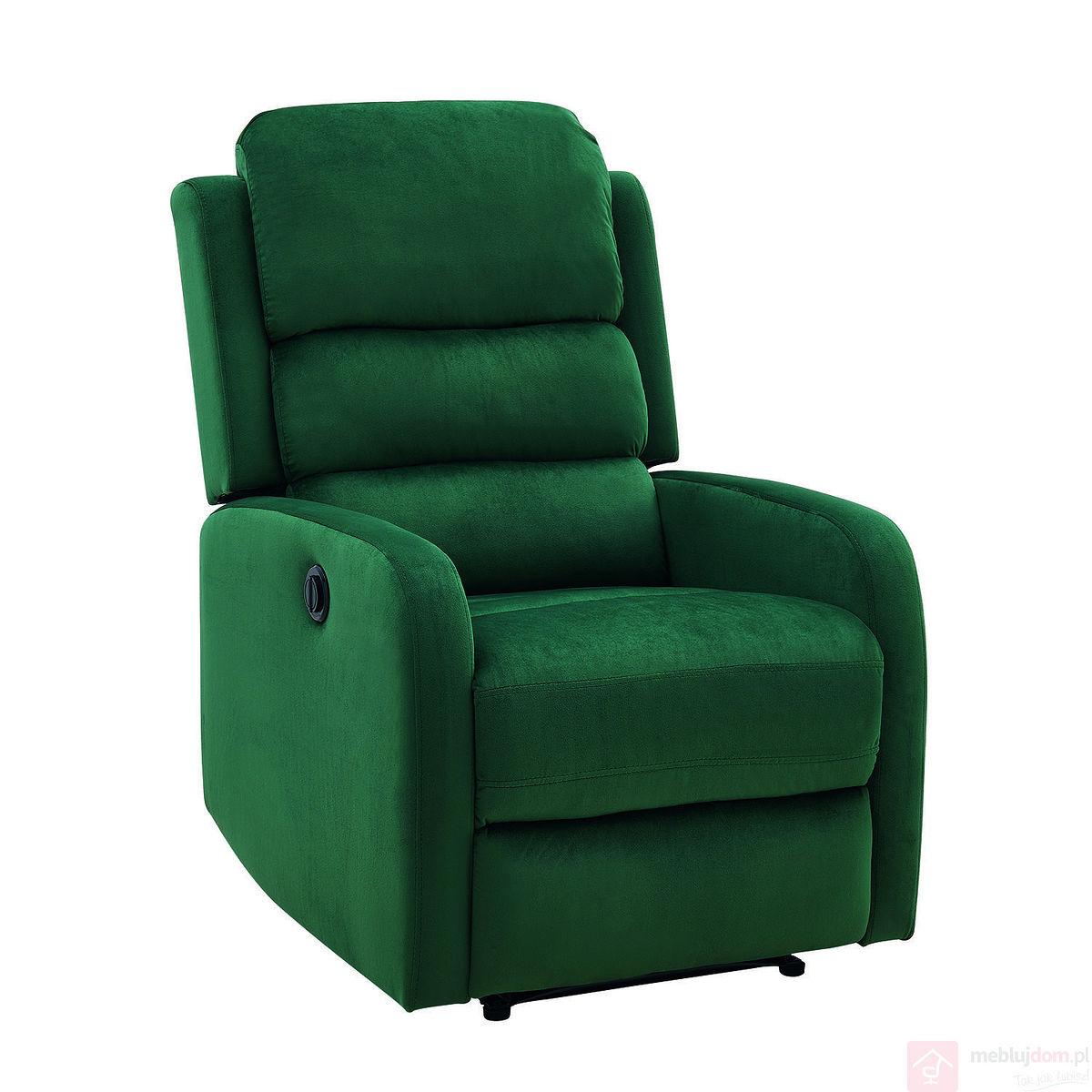 Fotel relaksacyjny PEGAZ VELVET Signal zielony