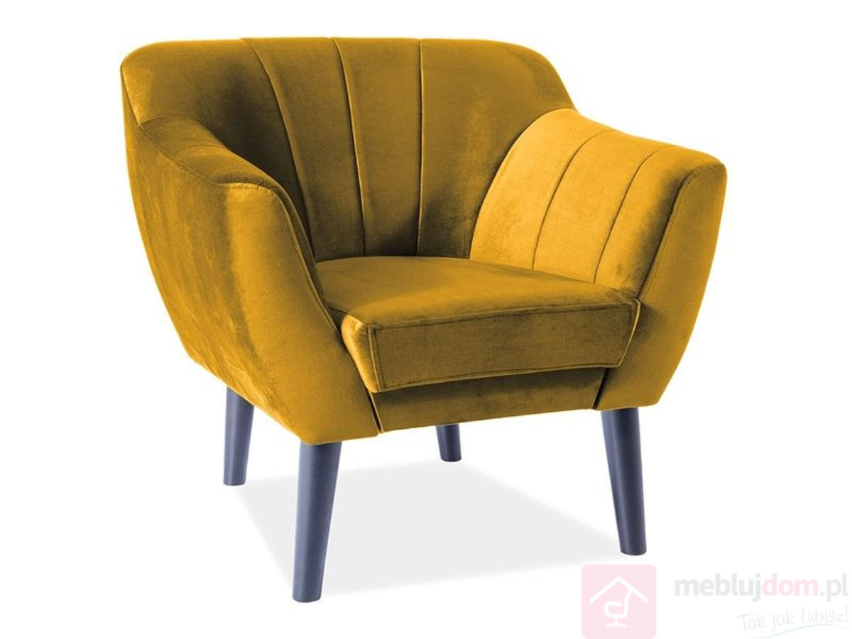 Sofa TREFL VELVET 1 Signal curry