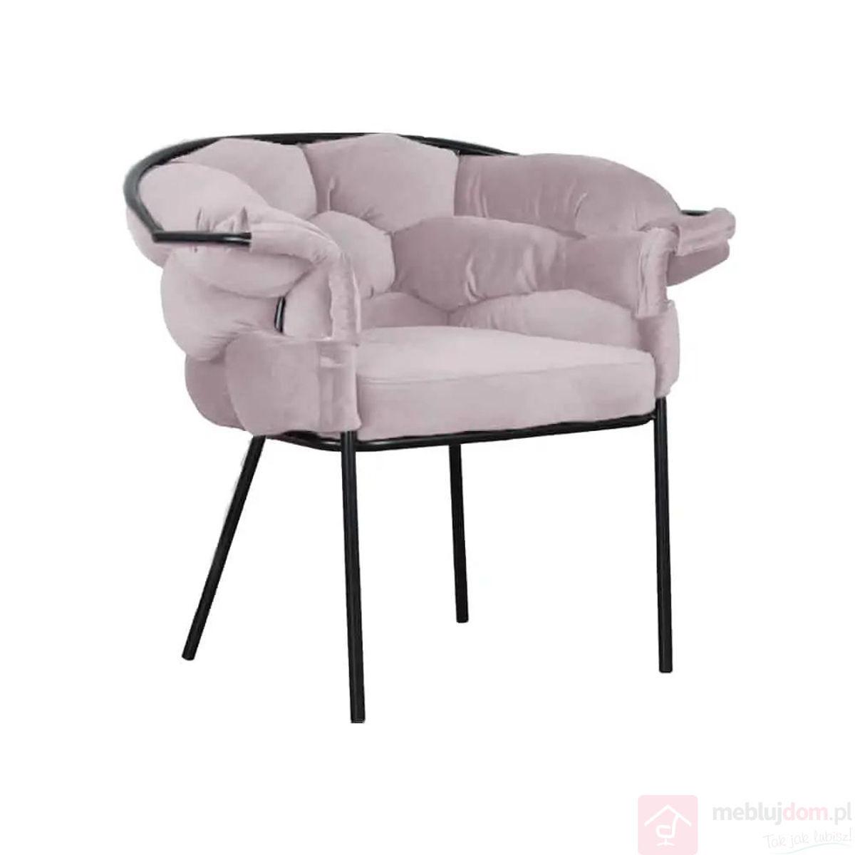 Krzesło CHERRY Czarny Stelaż