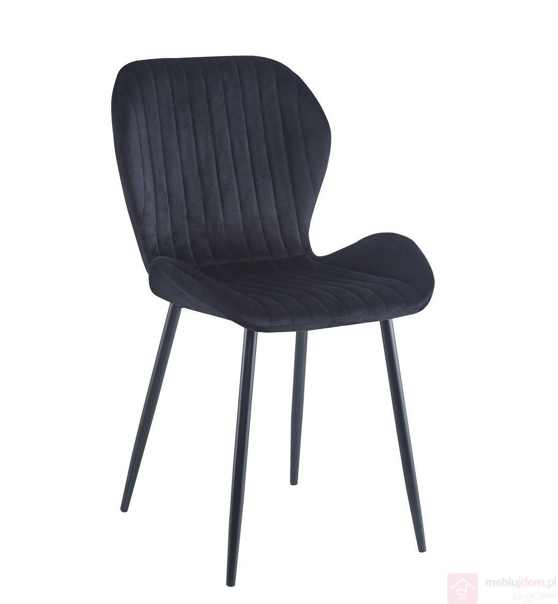 Krzesło K1-FX Velvet Czarne
