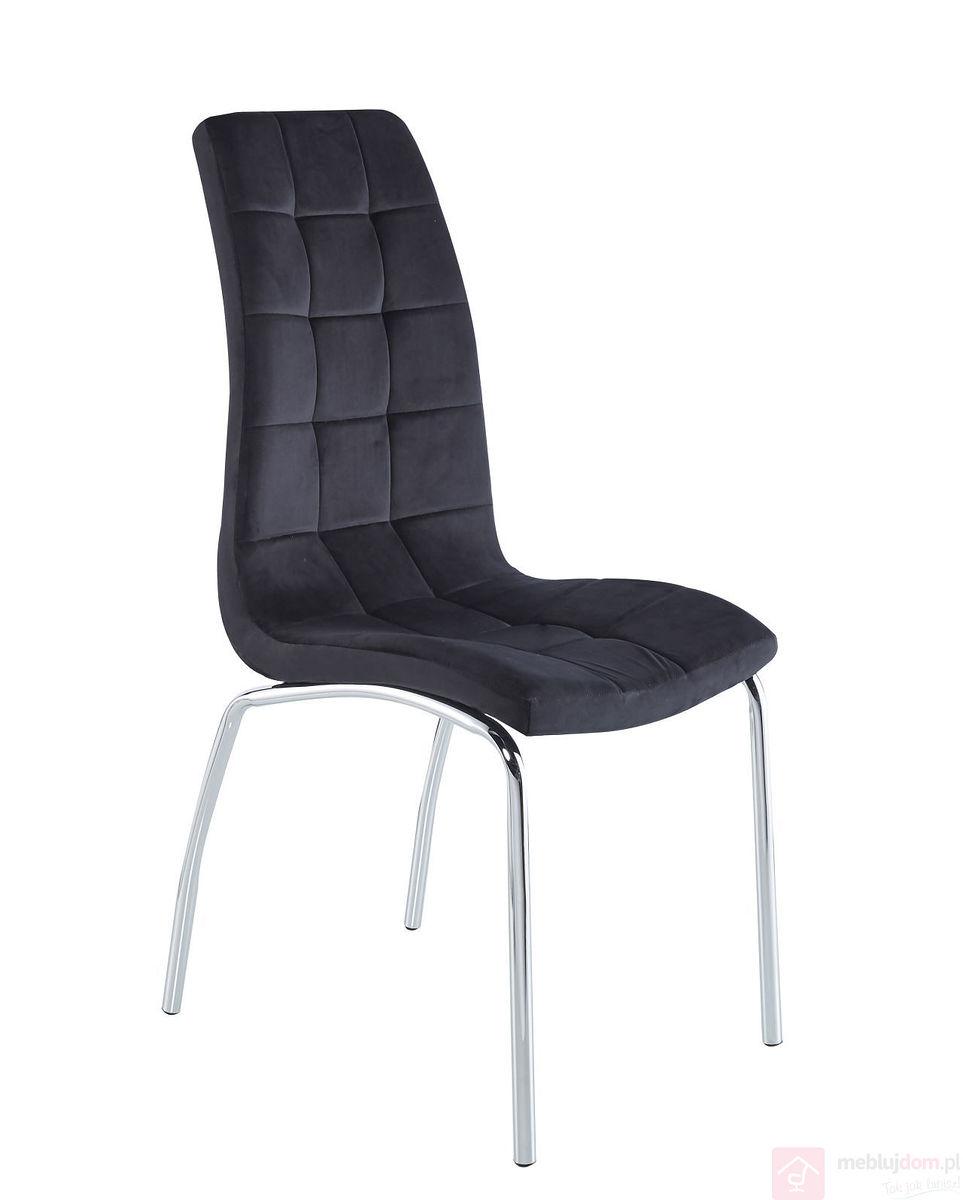 Krzesło DC2-092V Velvet  Czarne