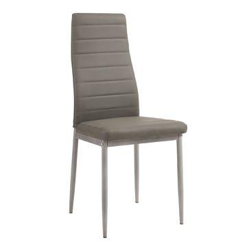 Krzesło F261-3-KD Szare
