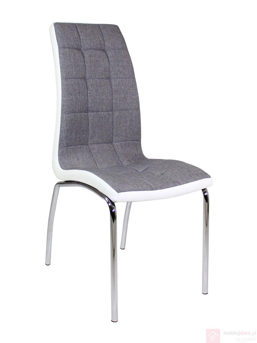 Krzesło DC2-092 Szaro - Biała Tkanina