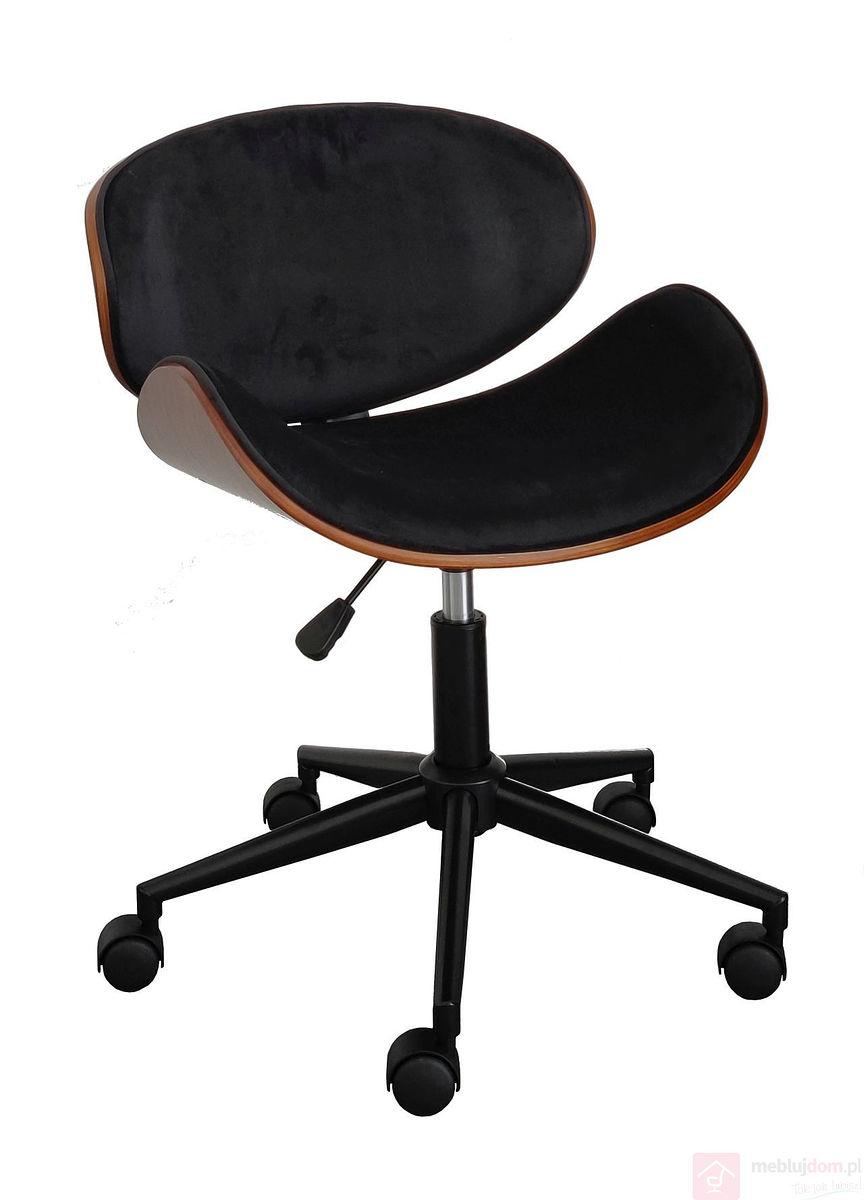 Fotel obrotowy FB5-FX velvet czarne