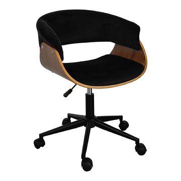 Fotel obrotowy FB6-FX velvet czarne
