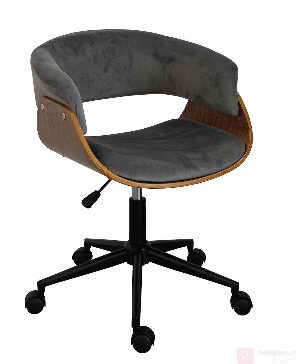 Fotel obrotowy FB6-FX velvet szare