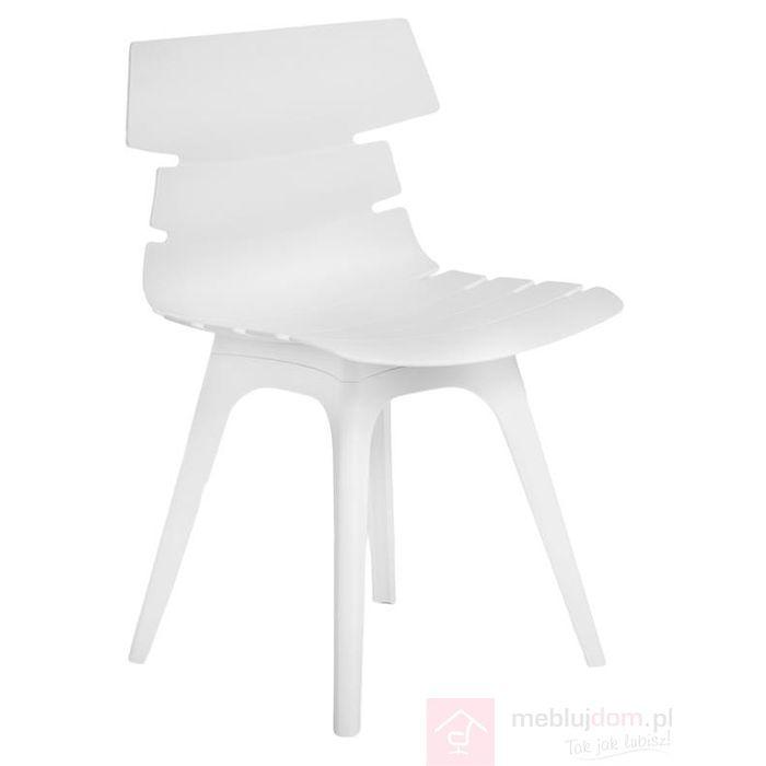 Krzesło Techno z białą podstawą
