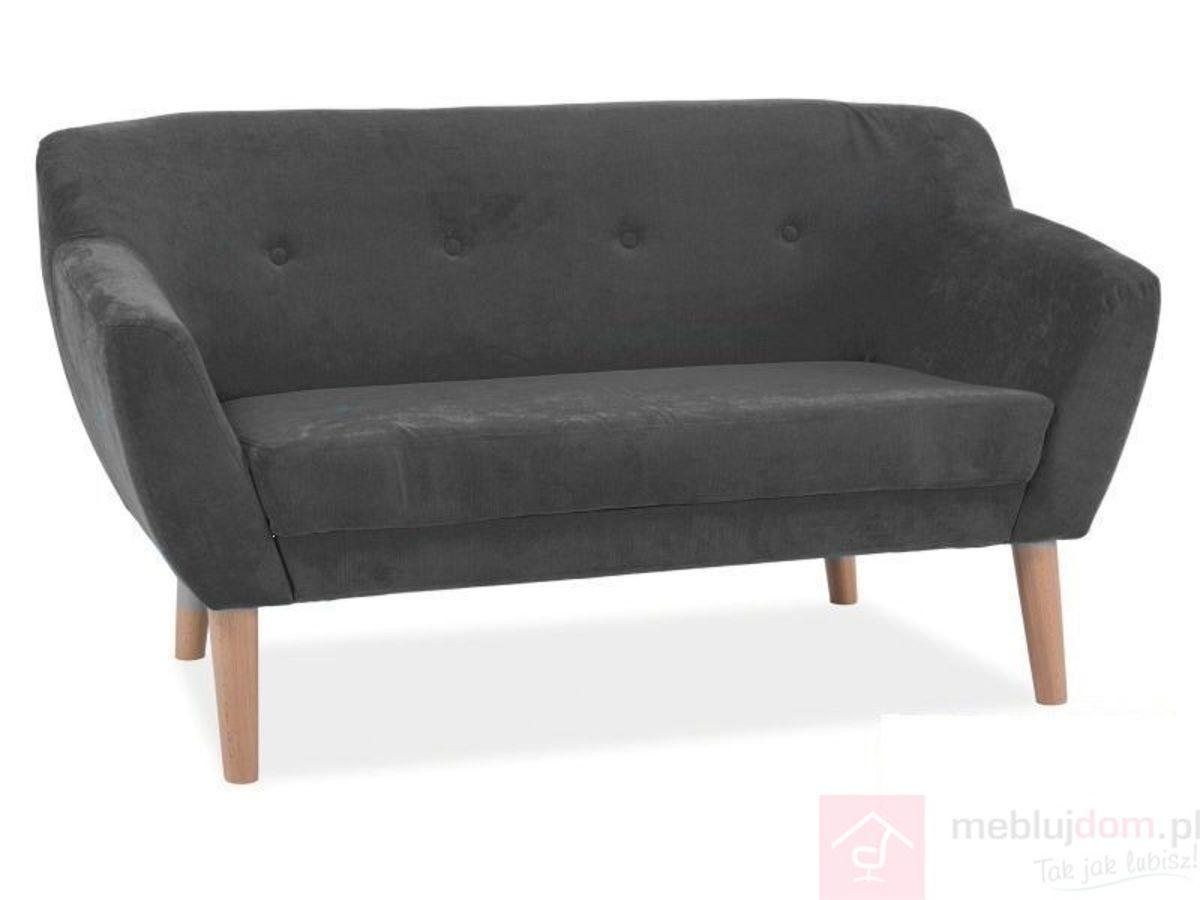 Sofa BERGEN II Signal tkanina Szary ciemny tapicerowany