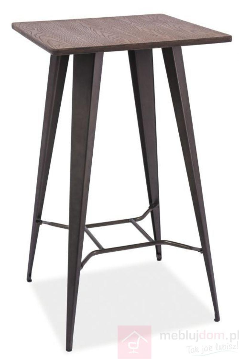 Stolik barowy RETTO Signal Orzech ciemny + grafit