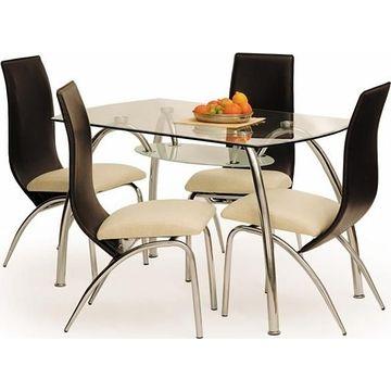 Stół CORWIN BIS Halmar Przezroczysty, 75x125 cm