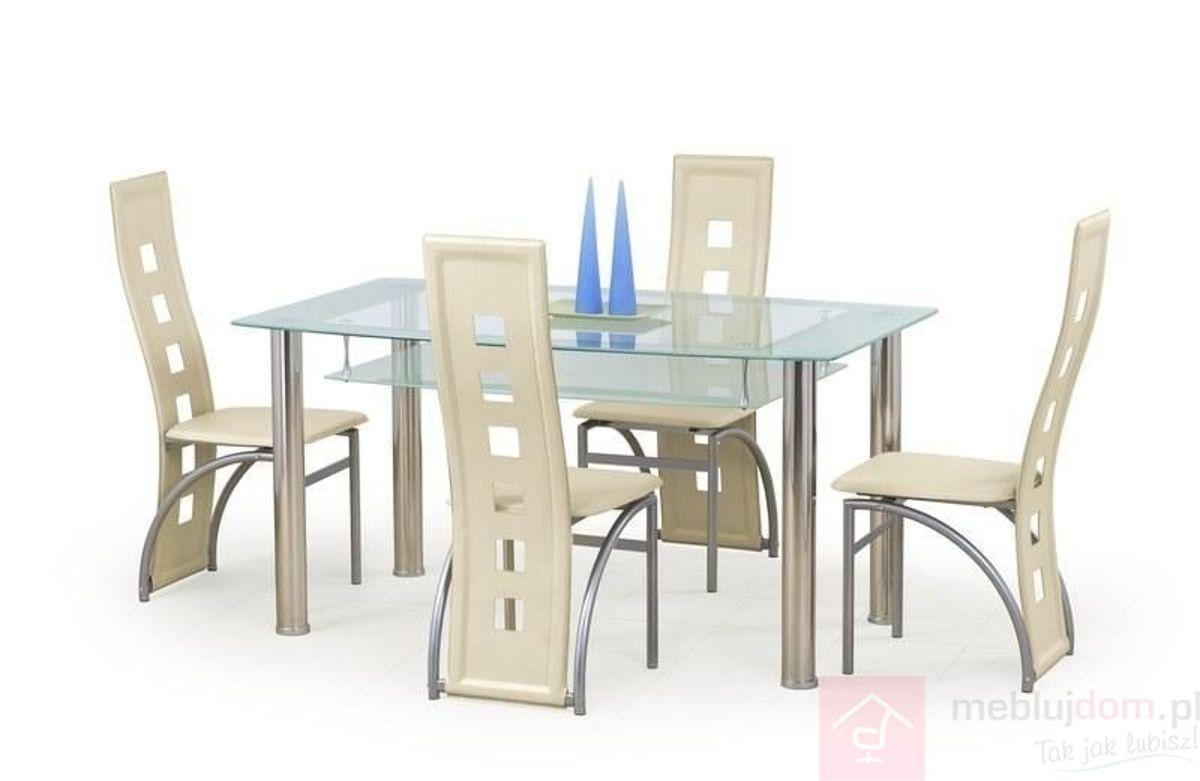 Stół CRISTAL Halmar Przezroczysty, 90x150 cm