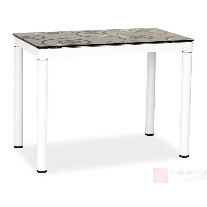 Stół DAMAR Signal Czarno-biały, 60x100 cm