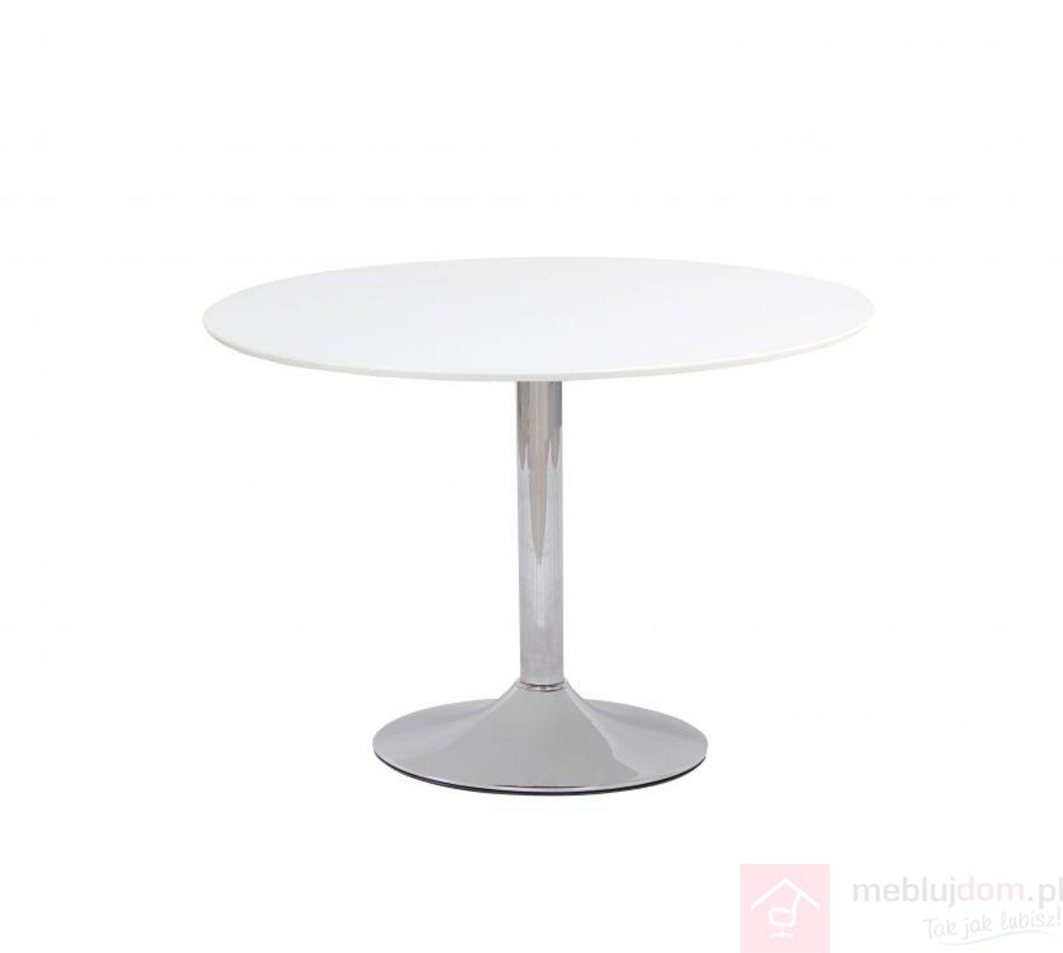 Stół FLAVIO Signal Biały połysk, ⌀90 cm