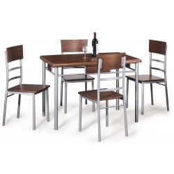 Zestaw stół z krzesłami