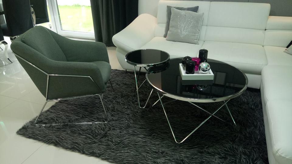 Aranżacja pięknego salonu od naszej Klientki - fotel SOFT oraz ławy Fabia B i C