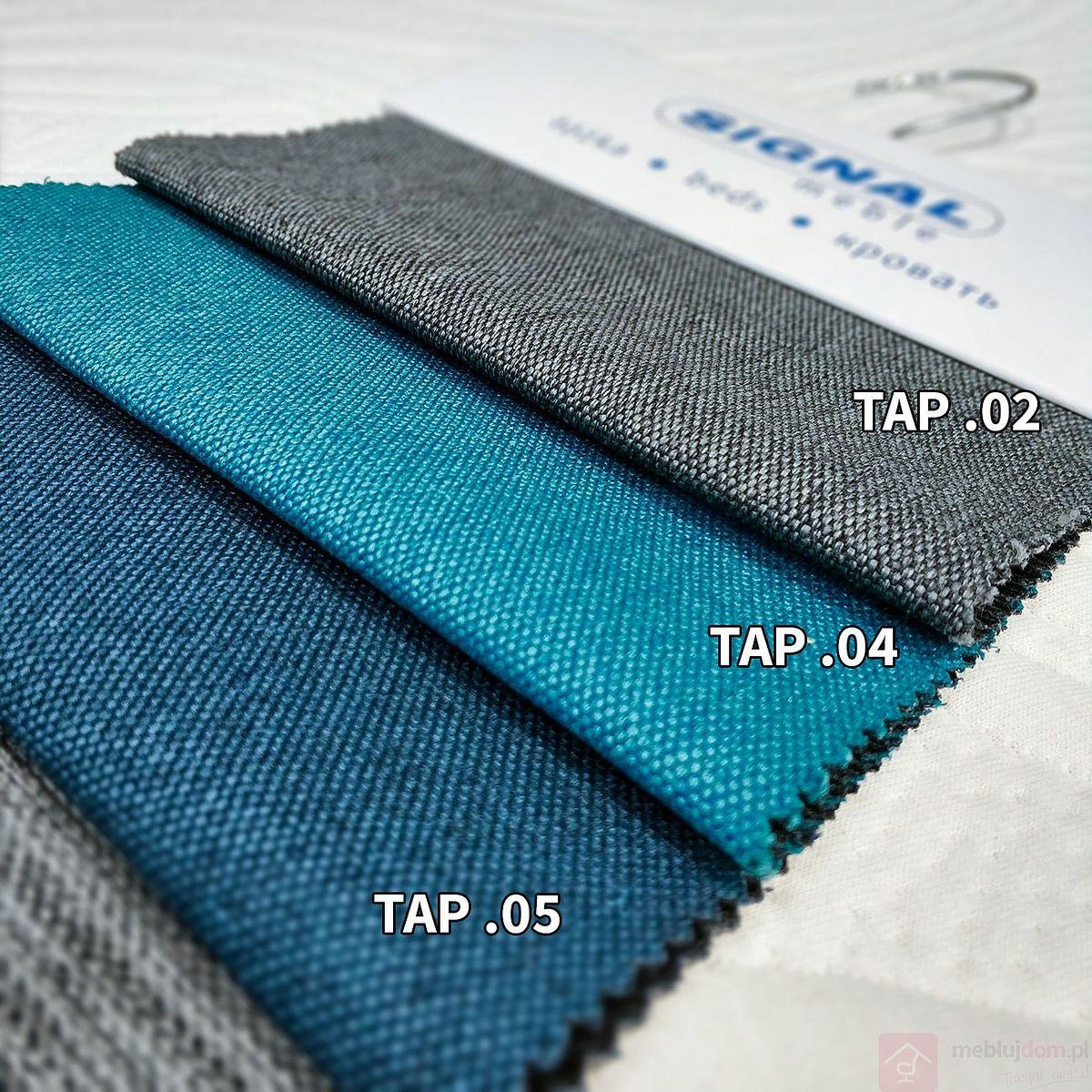 Tkaniny Signal - Opis, Realne zdjęcia próbnika tkanin dla łóżek tapicerowanych