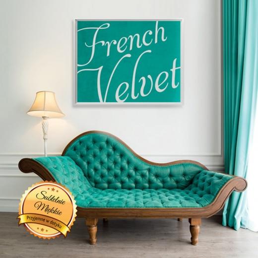 Tkanina welurowa French Velvet Fibero
